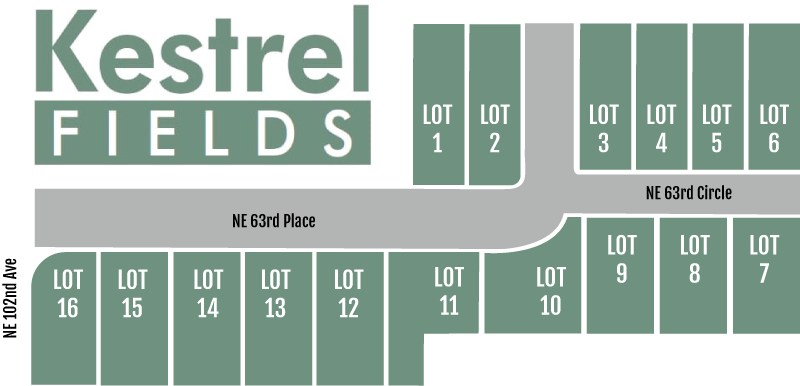 Kestrel Fields Site Map