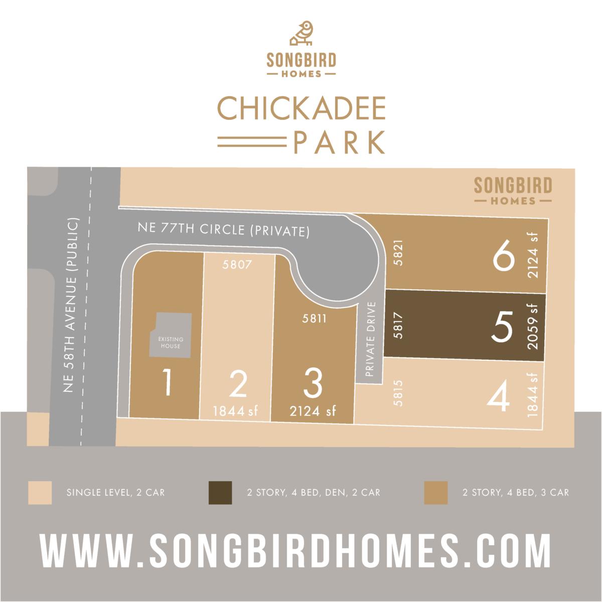 Chickadee Park plat map